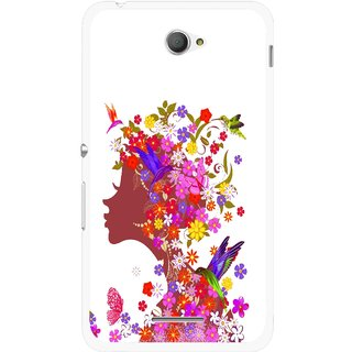 Snooky Printed Girl Beauty Mobile Back Cover For Sony Xperia E4 - Multicolour