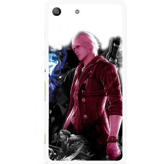 Snooky Printed Fighter Boy Mobile Back Cover For Sony Xperia M5 - Multicolour