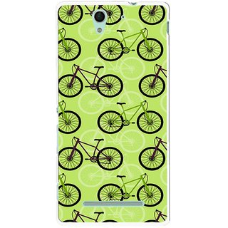 Snooky Printed Cycle Mobile Back Cover For Sony Xperia C3 - Multicolour