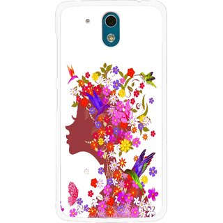 Snooky Printed Girl Beauty Mobile Back Cover For HTC Desire 326G - Multicolour