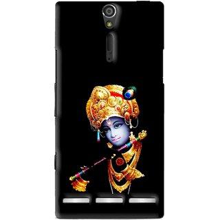 Snooky Printed God Krishna Mobile Back Cover For Sony Xperia S - Multi