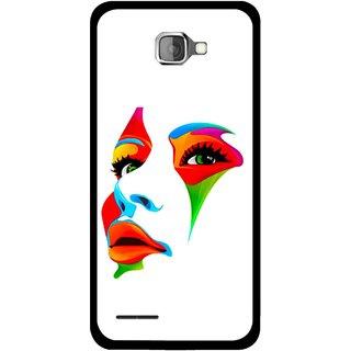 Snooky Printed Modern Girl Mobile Back Cover For Micromax Canvas Mad A94 - Multicolour
