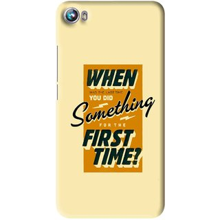 Snooky Printed First Time you Did Mobile Back Cover For Micromax Canvas Fire 4 A107 - Multi