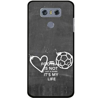 Snooky Printed Football Life Mobile Back Cover For LG G6 - Multi