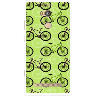 Snooky Printed Cycle Mobile Back Cover For Gionee Elife E8 - Multicolour