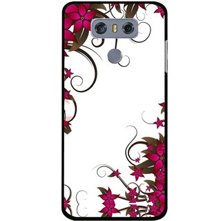 Snooky Printed Flower Creep Mobile Back Cover For LG G6 - Multi