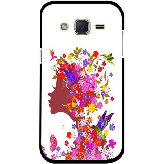 Snooky Printed Girl Beauty Mobile Back Cover For Samsung Galaxy j2 - Multicolour
