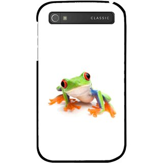 Snooky Printed Frog Mobile Back Cover For Blackberry Classic - Multicolour