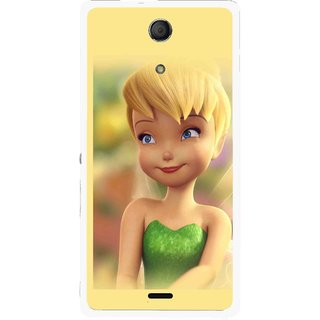 Snooky Printed Butterfly Girl Mobile Back Cover For Sony Xperia ZR - Multicolour