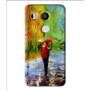 Snooky Printed Painting Mobile Back Cover For Lg Google Nexus 5X - Multi