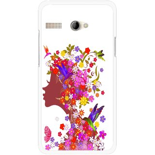 Snooky Printed Girl Beauty Mobile Back Cover For Intex Aqua 3G Pro - Multicolour