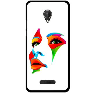 Snooky Printed Modern Girl Mobile Back Cover For Micromax Canvas Spark Q380 - Multicolour