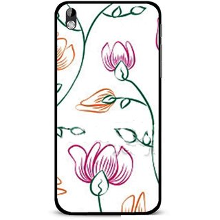 Snooky Printed Flower Sketch Mobile Back Cover For HTC Desire 816 - Multi