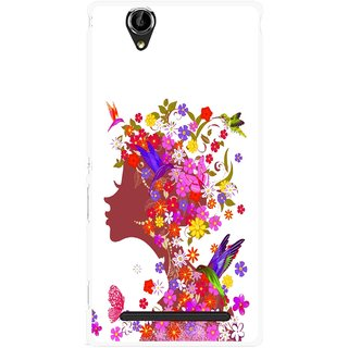 Snooky Printed Girl Beauty Mobile Back Cover For Sony Xperia T2 Ultra - Multicolour