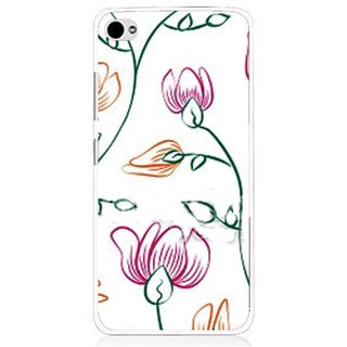 Snooky Printed Flower Sketch Mobile Back Cover For Lenovo s90 - Multi