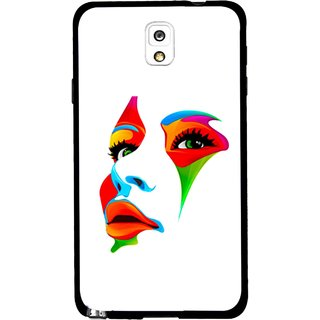 Snooky Printed Modern Girl Mobile Back Cover For Samsung Galaxy Note 3 - Multicolour