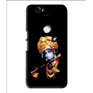 Snooky Printed God Krishna Mobile Back Cover For Huawei Nexus 6P - Multi