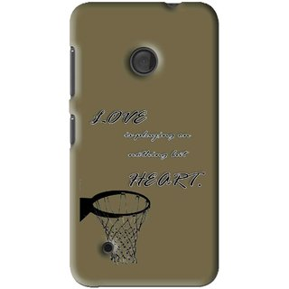 Snooky Printed Heart Games Mobile Back Cover For Nokia Lumia 530 - Multi