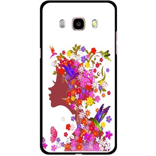 Snooky Printed Girl Beauty Mobile Back Cover For Samsung Galaxy J5 (2017) - Multicolour