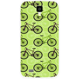 Snooky Printed Cycle Mobile Back Cover For Gionee Pioneer P2S - Multicolour