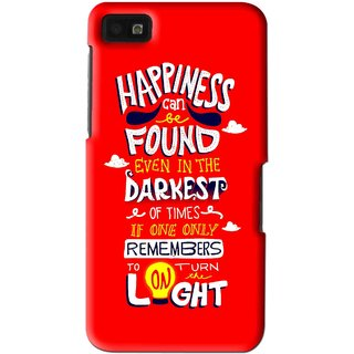 Snooky Printed Happiness Is Every Where Mobile Back Cover For Blackberry Z10 - Multi