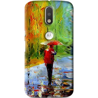 Snooky Printed Painting Mobile Back Cover For Moto G4 Plus - Multi
