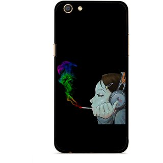 Snooky Printed Color Of Smoke Mobile Back Cover For Oppo F3 - Multi