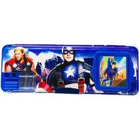 Priyankish Smart Kidz Blue Avenger Calculator Pencil Box