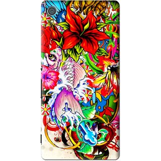 Snooky Printed Horny Flowers Mobile Back Cover For Sony Xperia Z4 - Multi