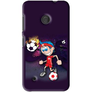 Snooky Printed My Game Mobile Back Cover For Nokia Lumia 530 - Multi
