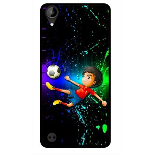 Snooky Printed High Kick Mobile Back Cover For HTC Desire 630 - Multi
