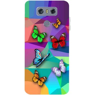 Snooky Printed Trendy Buterfly Mobile Back Cover For LG G6 - Multicolour