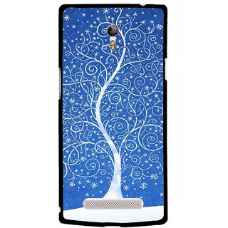 Snooky Printed Wish Tree Mobile Back Cover For Oppo Find 7 - Multicolour