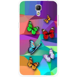Snooky Printed Trendy Buterfly Mobile Back Cover For Samsung Galaxy Mega 2 - Multicolour
