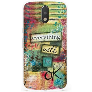 Snooky Printed Will Ok Mobile Back Cover For Moto G4 Plus - Multi