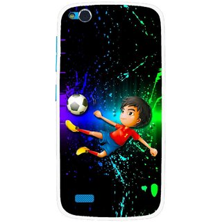 Snooky Printed High Kick Mobile Back Cover For Gionee Elife E3 - Multi