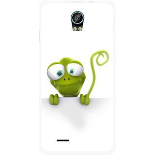 Snooky Printed Seeking Alien Mobile Back Cover For Intex Aqua Life 2 - Multicolour