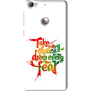 Snooky Printed Drop Fear Mobile Back Cover For Letv Le 1S - Multi