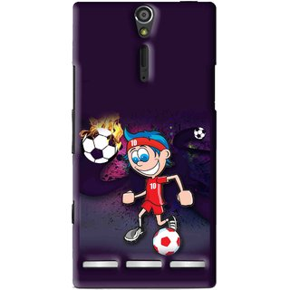 Snooky Printed My Game Mobile Back Cover For Sony Xperia S - Multi