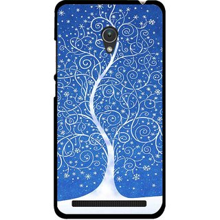 Snooky Printed Wish Tree Mobile Back Cover For Asus Zenfone 5 - Multicolour