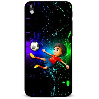 Snooky Printed High Kick Mobile Back Cover For HTC Desire 816 - Multi