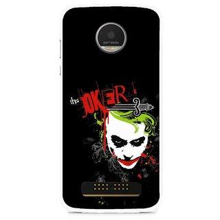 Snooky Printed The Joker Mobile Back Cover For Moto Z - Multi