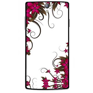 Snooky Printed Flower Creep Mobile Back Cover For Oppo Find 5 Mini - Multicolour