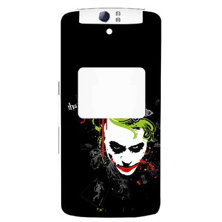 Snooky Printed The Joker Mobile Back Cover For Oppo N1 - Multi