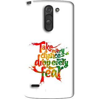 Snooky Printed Drop Fear Mobile Back Cover For Lg G3 Stylus - Multi