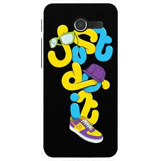 Snooky Printed Just Do it Mobile Back Cover For Asus Zenfone 4 - Multicolour