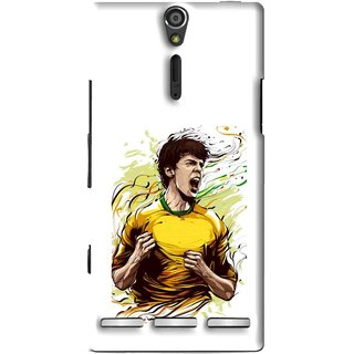 Snooky Printed I Win Mobile Back Cover For Sony Xperia S - Multi