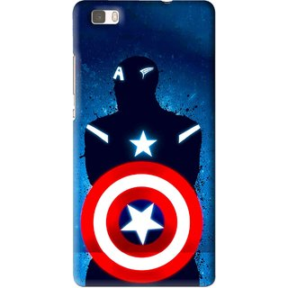 Snooky Printed America Sheild Mobile Back Cover For Huawei Ascend P8 Lite - Multi