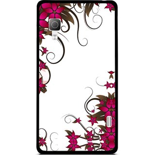 Snooky Printed Flower Creep Mobile Back Cover For Lg Optimus L5II E455 - Multicolour