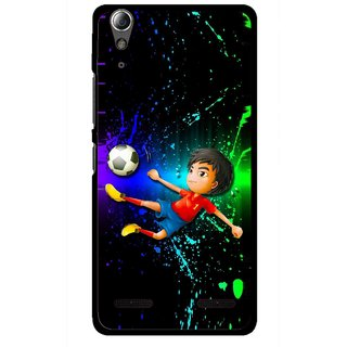 Snooky Printed High Kick Mobile Back Cover For Lenovo A6000 Plus - Multi